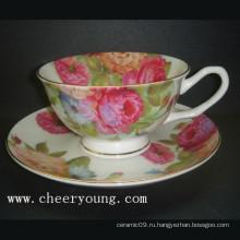 Кофейная чашка и блюдце (CY-B532)