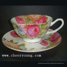 Taza café y plato (CY-B532)