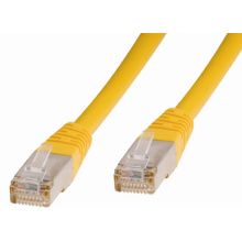 1m 27awg gelb Cat6a Kupfer-Version-SF/UTP Patchkabel