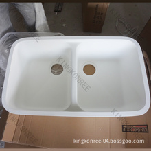 Artificial Stone Kitchen Sink, Solid Surface Sink, Water Sink, Double Drain Board Undermount Kitchen Sink, Undermount Sink, Marble Sink