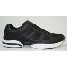 black mens sports running shoes