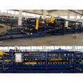 Avanzada la lana de roca sándwich panel máquina línea de producción/sandwich panel perfilado línea de la máquina