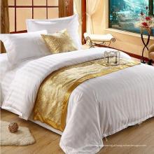 Cetim strip hotel cama de algodão conjunto com edredom conjunto (WS-2016068)
