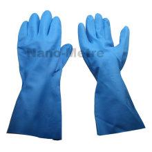 NMSAFETY 13mil unline Luva industrial de nitrilo azul