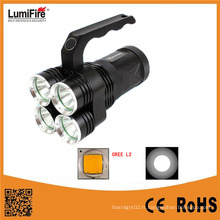 Lumifre 3300 Hot Sale High Power 4 * 18650 Batterie 2000 Lumens Rechargeable LED Flashlight