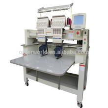 Doppelkopf-Computer-Stickmaschine für Kappe, flach, T-Shirt Stickerei OEM902C / 1202C Preise