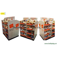 Soporte de cartón para mostrador, Cabeza de pila de papel para ropa, Mostrador de mostrador, Soporte de exhibición desplegable, Estantes Pop, Estantes de pie de papel, Caja de regalo, Caja de papel (B & C-C030)
