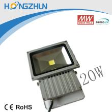 Ip 65 20w éclairage d'intempéries à l'extérieur Brideglux ou epistar chip meanwell aluminium body
