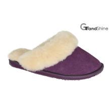 Женские туфли из овчины с натуральной кожей