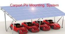 Newest design China fashion Carport PV mounting system solar carport