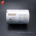 Laminating aluminum foil roll films