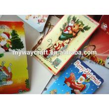 Glitter personnalisé en gros noël cadeau étiquettes / christmas greeting hang tags