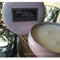 340g Round Tin Pure Soy Aroma Candle Luxury in Box