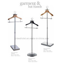 Stand de suporte de vestuário de hotel Stand de suporte de vestuário de metal