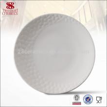 Wholesale pas cher vaisselle en porcelaine, plat de friction en céramique