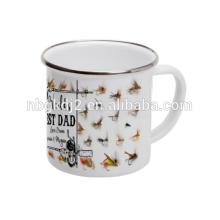 Открытый эмаль кружка кофе Олово подарок на день рождения с конструкцией OEM