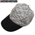 Fashion Knitted Baseball Cap with Faux Leather Leo
