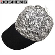 Bonnet de baseball en tricot à la mode avec cuir Faux cuir