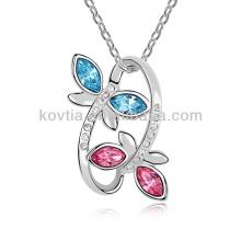 10032 модные серебряные ювелирные изделия кристалл бижу ожерелье