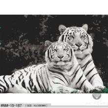 Mosaico de vidrio clásico Tigre Animal Patrón Artesanía Mural