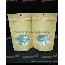 sterile Papiertüten / Tee-Papier-Ziplock-Tasche / Träne Nord-Papier-Boden-Zwickel-Tasche