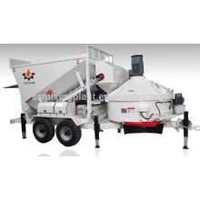 oversea service center mobile mini concrete batching plant for sale 10m3/h