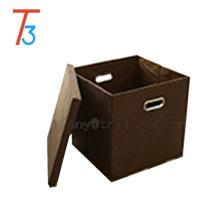 Домашний шкаф организатор картонная льняная ткань штабелируемая коробка для хранения с крышкой