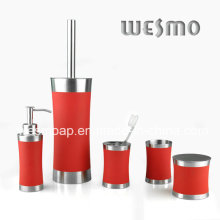 Rubber Oil Coating Stainless Steel Bathroom Accessories Set (WBS0509D)