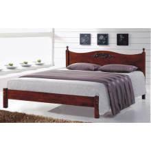 Lit queen en bois, meubles de chambre à coucher