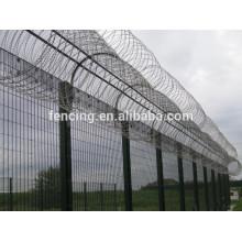 galvanisation à chaud chaude haute sécurité système de clôture de protection de l'aéroport
