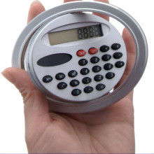 8 Digit Promotional Oval Shaped Mini Pocket Calculator