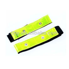LED PVC Reflective slap wrap elastic reflective armband