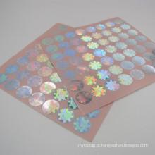 Adesivo de laser de holograma transparente 3D personalizado