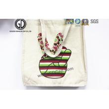 Bolsa de algodón Bolsa de lona de calidad Compras coloridas La bolsa de asas promocional