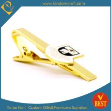 Clip personalizado de encargo del lazo de oro de la galjanoplastia de la alta calidad para el regalo