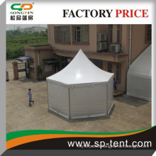 2015 Wholesale cheap aluminum pvc luxury hexagon pagoda tents