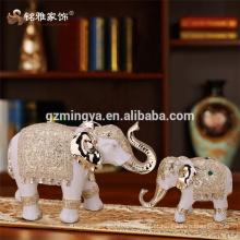 Decoração de decoração customizada Elefante de Tailândia Arte de resina de Natal Decoração de artesanato de resina