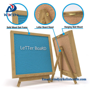 Wholesale Felt Wood Letter Boards 10*10 inch, Message Changeable Letters Board Felt Letter Board