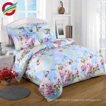 ensemble de literie de couverture de coton de couette de couette de luxe pour le textile à la maison