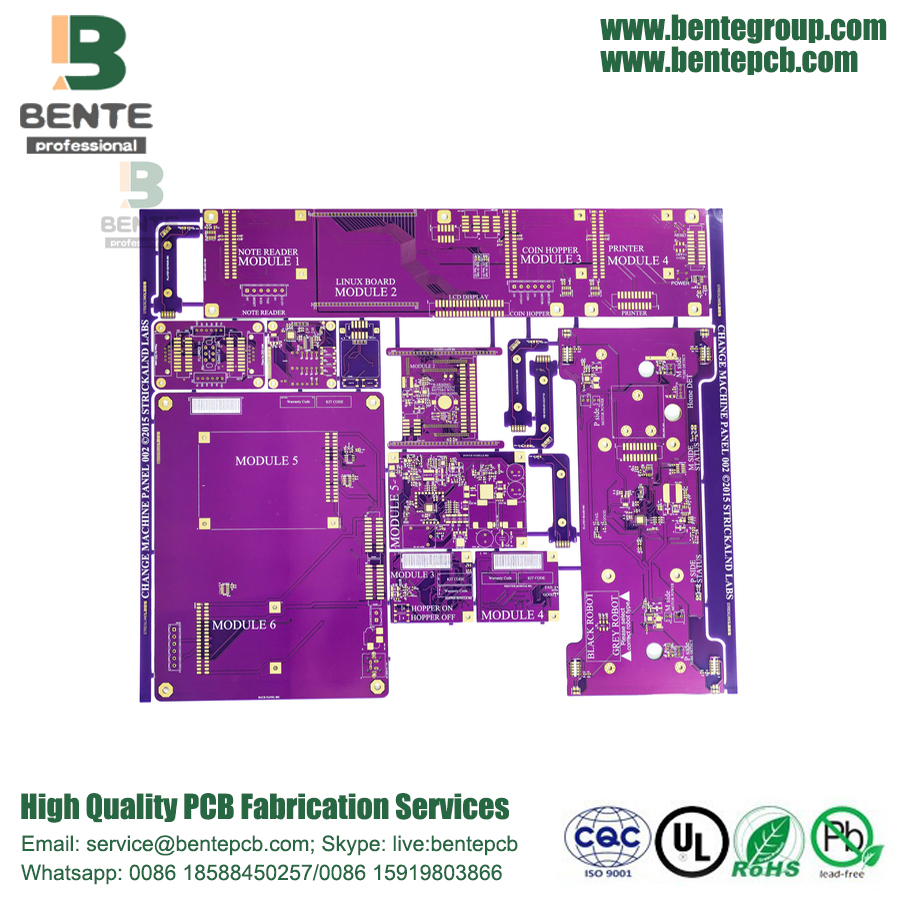 High-precision Multilayer PCB 6Layers Purple