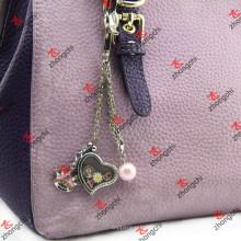 Moda saco grampo Locket Keychain para acessórios de couro sacos (lbk108)