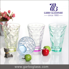 High Quality Water Drinking Glass Cup with Spray Colors