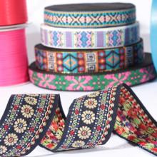 Custom flower fabric ribbons