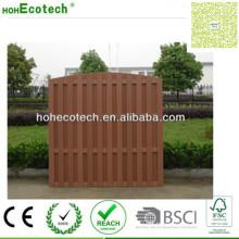 Wood Plastic Fencing Panel Vinyl Waterproof Garden Fence Decking