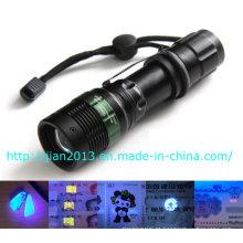 3W 365nm recarregável scorpion caça UV lanterna