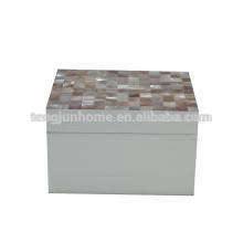 CPN-WPSBXS Boîte de rangement peinte par pulvérisation à coquillage rose en taille moyenne