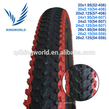 Colorful rubber MTB mountain type bicycle tire 26*2.125