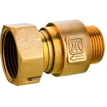 Válvula de control de cobre amarillo antes del contador de agua, válvula de cobre amarillo 403, precio bajo y alta calidad