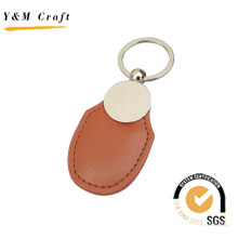 Customized Multi-Color PU Leather Metal Key Ring (Y03901)