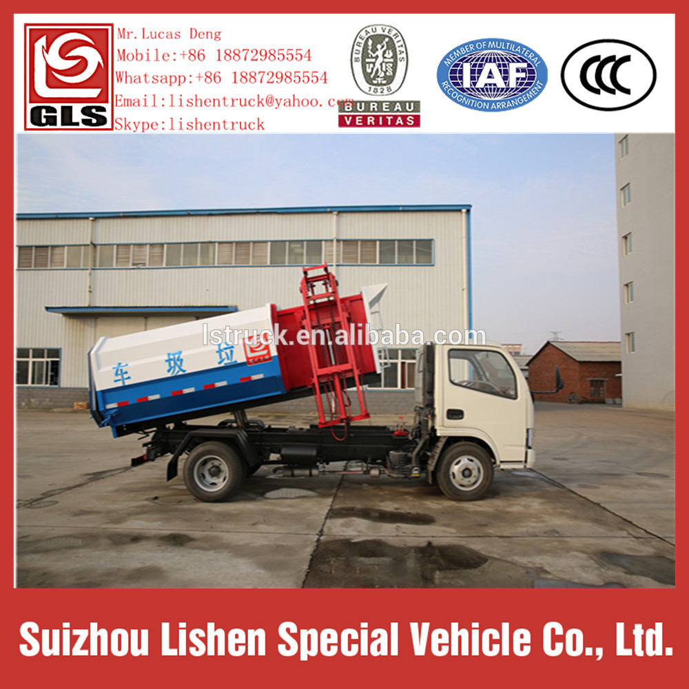 Dongfeng Hydraulic Lift Garbage Truck Hang Barrel
